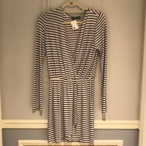 Striped B&W Dress
